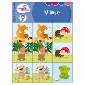 Ditipo Pexeso pre najmenších V lese pre deti 3+, 10 párov obrázkov