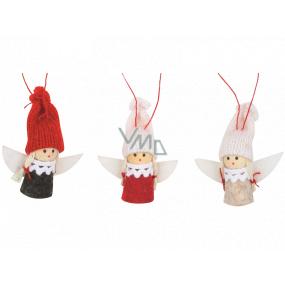 Anjel v pletené čiapku 5,5 cm na zavesenie 1 kus