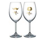 Nekupto Párové poháre na víno Mr. & Mrs. 2 x 440 ml