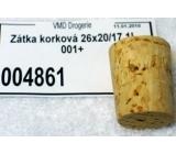 Korková zátka korková 26 x 20 /17 1l