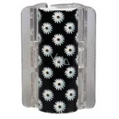 Linziclip Maxi Vlasový škripec čierny sa sedmokráskami 8 cm vhodný pre hustejšie vlasy 1 kus
