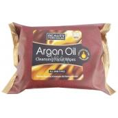 Beauty Formulas Arganový olej Kozmetické odličovacie a čistiace obrúsky 30 kusov