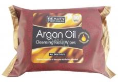 Beauty Formulas Arganový olej Kosmetické odličovací a čistící ubrousky 30 kusů