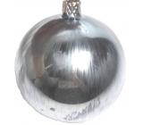 Irisa Banky sklenené strieborná metalíza hladké, sada 8 cm 4 kusy