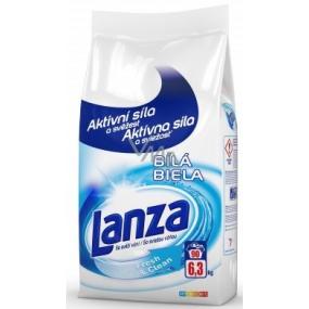 Lanza Fresh & Clean Biela prací prášok na biele prádlo 90 dávok 6,3 kg