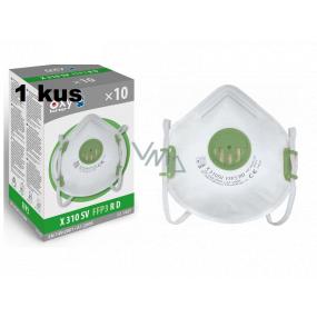 Respirátor ústnej ochranný - filtračná polomaska 4-vrstvový FFP3, Oxyline X 310 SV s ventilom Profesionálna ochrana 1 kus