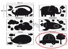 Apli Kriedová tabuľa samolepiaca - auto 60 x 100 cm