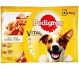 Pedigree Adult Hovädzie a hydinové mäso v želé vrecko pre dospelých psov 100 gx 4 kusy