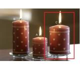 Lima Srdiečko potlač sviečka staroružová valec 70 x 100 mm 1 kus