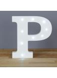 Nekupto Dřevěné LED písmeno P dekorace 16 cm