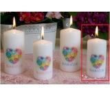 Lima s venovaním Babičce sviečka s obtiskom valec 50 x 100 mm 1 kus