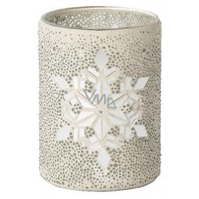 Yankee Candle Twinkling Snowflake svícen na střední a velké vonné svíčky Classic