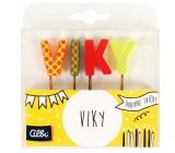 Albi Tortové sviečky meno - Viky, 2,5 cm