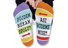 Nekupto Rodinné darčeky s humorom Ponožky Pôjdeme spolu, veľkosť 43-46