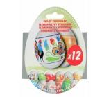 Termonálepky Regionálne zmršťovacia fólia na vajcia 12 kusov