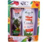 Bione Cosmetics Cannabis bylinný balzám s Kaštanem Koňským + Tělové mléko regenerační , dárková sada