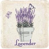 Bohemia Gifts & Cosmetics Lavender kvetináč s motýľmi dekoratívnou Kachlík 10 x 10 cm
