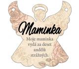 Albi Závěsná plaketka anděl Maminka 9 x 10 cm