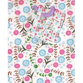 Nekupto Dárková papírová taška malá 14 x 11 x 6,5 cm květiny 1352 02 KFS