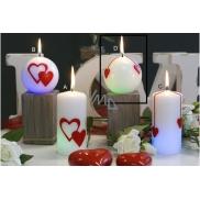 Lima Magická sviečka Srdce guľa 80 mm 1 kus