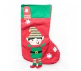 Xmas Škriatok / Santa pančucha vianočný sa škriatkom alebo santom na darčeky 1 kus
