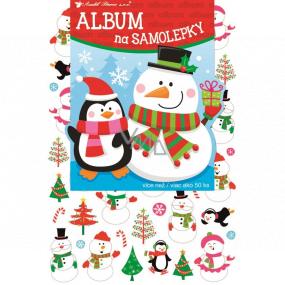 Album na samolepky hologram vianočné 16 x 29 cm + 50 kusov samolepiek