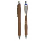 Spoko Panther Nature guľôčkové pero, Easy Ink, hnedé, modrá náplň 0,5 mm