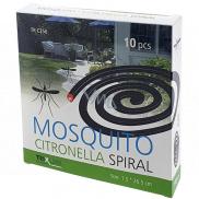Mosquito Repellent Incense spiral repelentný špirála s citronelou proti komárom 1,5 x 26,5 cm 10 kusov TR C356