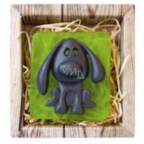 Bohemia Gifts & Cosmetics Natur Pejsek ručně vyráběné toaletní mýdlo v krabičce 85 g