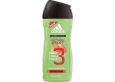 Adidas Active Start 3v1 sprchový gél na telo, tvár a vlasy pre mužov 250 ml