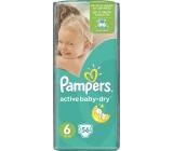 Pampers Active Baby Dry 6 Extra Large 15+ kg jednorázové plenky 56 kusů