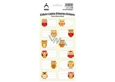 Arch Samolepky do domácnosti dekorační sovy 3556 12 etiket