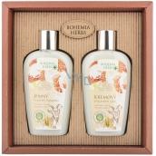 Bohemia Gifts Med a Kozie mlieko sprchový gél 250 ml + šampón na vlasy 250 ml, kozmetická sada