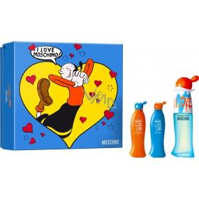 Moschino I Love Love toaletná voda pre ženy 30 ml + telové mlieko 25 ml + sprchový gél 25 ml, darčeková sada