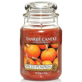 Yankee Candle Spiced Pumpkin - Korenená tekvica vonná sviečka Classic veľká sklo 623 g