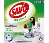 Savo Bez chloru Universal prací prášek na barevné i bílé prádlo 20 dávek 1,4 kg