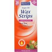 Beauty Formulas Arganový olej Wax Strips depilační pásky na nohy a tělo 20 kusů