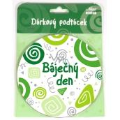 Nekupto Twister Podtácek zelený Báječný den