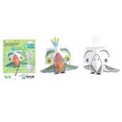 Monu 3D Papagáj k vymaľovanie +/- 20 cm, 5+