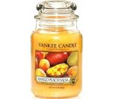 Yankee Candle Mango Peach Salsa - Salsa z manga a broskví vonná svíčka Classic velká sklo 623 g