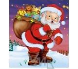 Press Igelitová taška s uchem Santa Claus s dárky 45 x 50 cm 1 kus