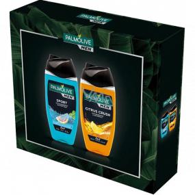 Palmolive Men Sport 3v1 sprchový gel 250 ml + Citrus Crush 3v1 sprchový gél 250 ml, kozmetická sada