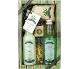 Bohemia Herbs Cannabis Premium sprchový gel 200 ml + šampon na vlasy 200 ml + koupelová sůl 150 g + toaletní mýdlo 30 g, kosmetická sada