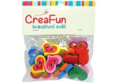 CreaFun Drevené korálky Srdce mix farieb 2,6 x 2 cm 20 kusov