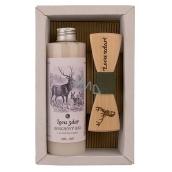 Bohemia Gifts & Cosmetics Myslivec Olivový olej sprchový gel 250 ml + dřevěný motýlek, pro muže kosmetická sada