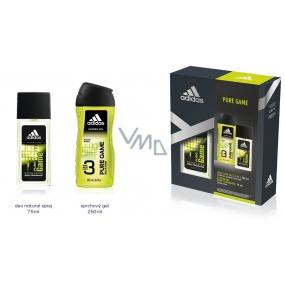 Adidas Pure Game deodorant sklo 75 ml + sprchový gél 250 ml pre mužov kozmetická sada