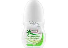 Bion Cosmetics Invisible for Black and White Zelený antiperspirant dezodorant roll-on pre ženy 80 ml