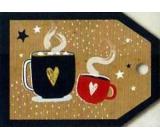 Nekupto Vianočné kartičky na darčeky káva 5,5 x 7,5 cm 6 kusov