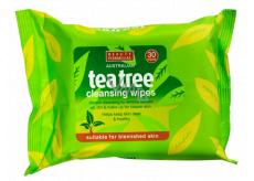 Beauty Formulas Tea tree čistiace obrúsky na tvár 30 kusy
