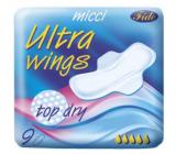 Micca Ultra Wings Top Dry intímne vložky s krídelkami 9 kusov